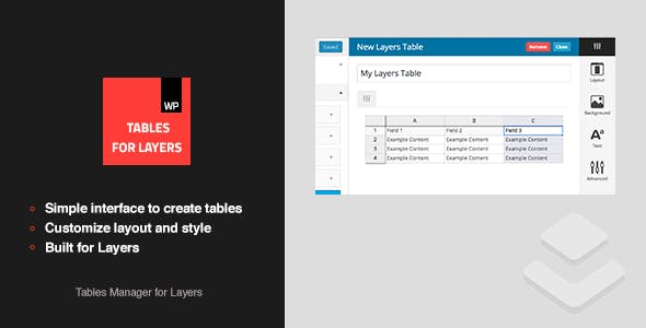 Tables for Layers - Layers Extension