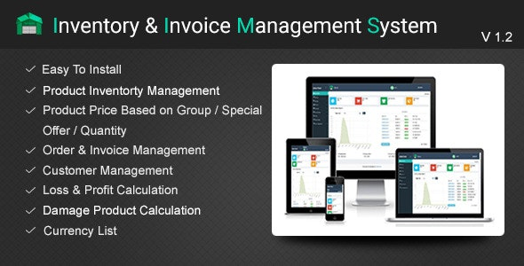 Inventory and Invoice Management System (IIMS-V 1.2) - CodeCanyon Item for Sale