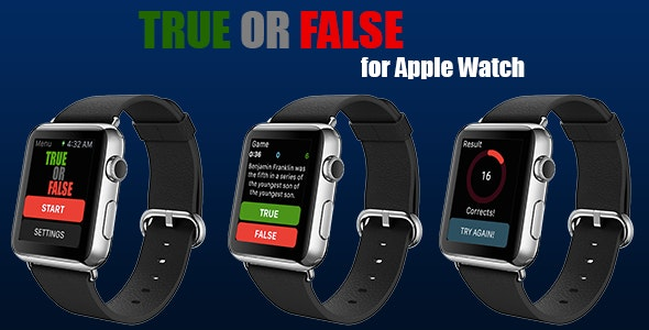 True or False for Apple Watch - CodeCanyon Item for Sale