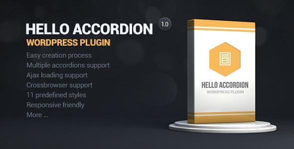 Hello Accordion Wordpress Widget - CodeCanyon Item for Sale