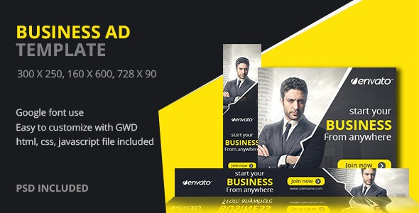Business | HTML5 Google Banner Ad 04 - CodeCanyon Item for Sale