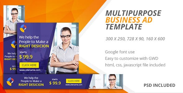 Multipurpose | Google HTML5 Ad Template 05
