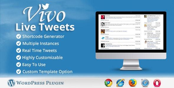 Vivo Live Tweets - WordPress Plugin - CodeCanyon Item for Sale