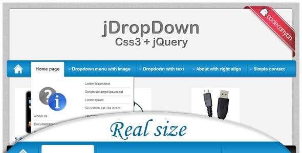 jDropDown Menu