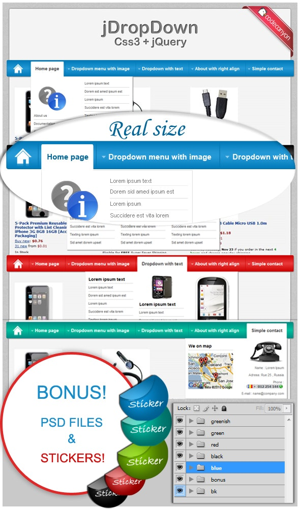 jDropDown Menu - CodeCanyon Item for Sale