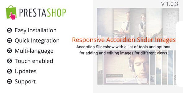Accordion Slideshow for Prestashop
