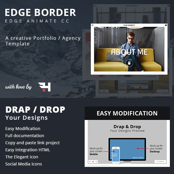 Edge Border - Creative Portfolio / Agency Template - CodeCanyon Item for Sale