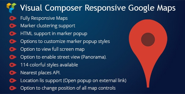 WPBakery Page Builder (Visual Composer) Responsive Google Maps - CodeCanyon Item for Sale