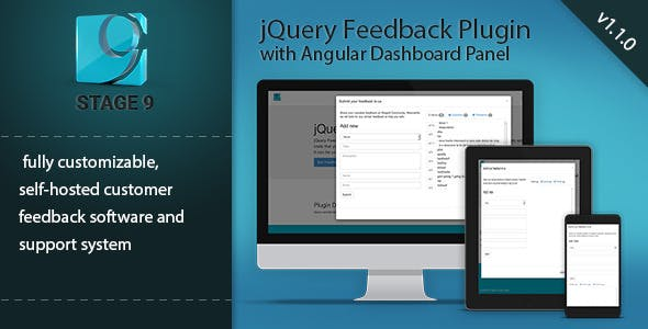 Feedback Plugin with Angular Dashboard Admin
