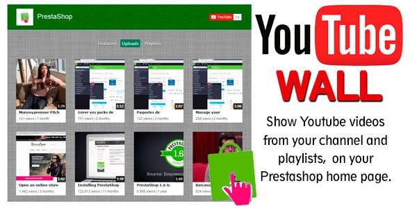 YoutubeWall Prestashop module