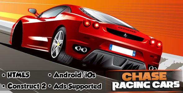Chase Racing Cars - HTML5 Android (CAPX) - CodeCanyon Item for Sale