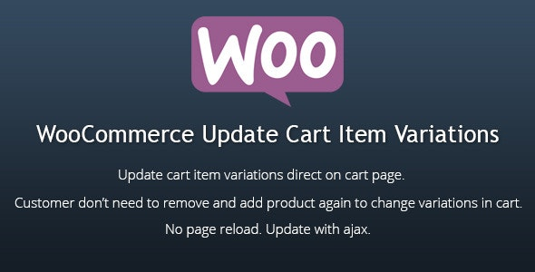 WooCommerce Update Cart Item Variations - CodeCanyon Item for Sale