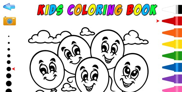 Kids Coloring Book - HTML5 Educational Game