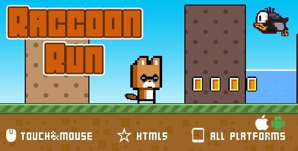 Raccoon Run-html5 game - CodeCanyon Item for Sale