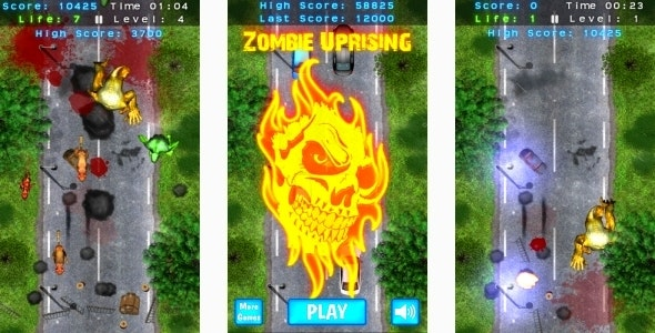 Zombie Uprising - HTML5 Mobile game (Construct 3 | Construct 2 | Capx) - CodeCanyon Item for Sale