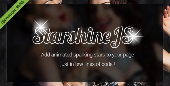 StarshineJS - SVG Animated Sparkling Stars HTML Effect
