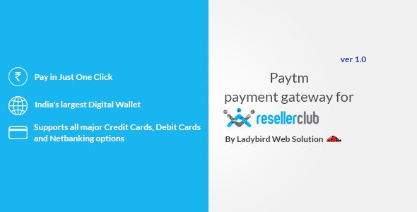 Paytm Payment Gateway for Reseller Club - CodeCanyon Item for Sale
