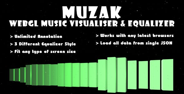 Muzak - WebGL Music Visualiser & Equalizer