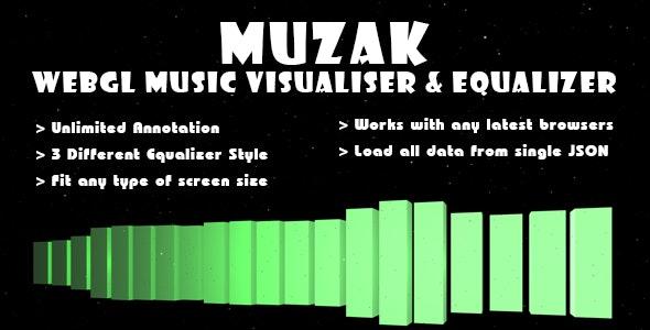 Muzak - WebGL Music Visualiser & Equalizer