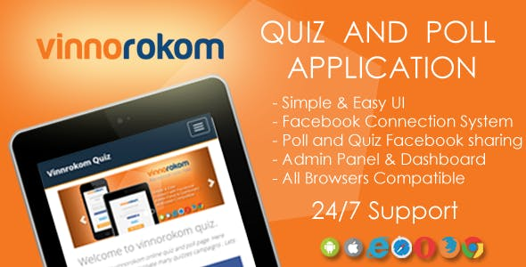 Vinnorokom - Facebook Quiz and Poll viral fun app