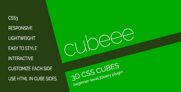 cubeee - 3D Animated Cubes - CodeCanyon Item for Sale