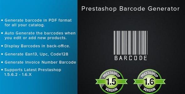 Prestashop Barcode Generator