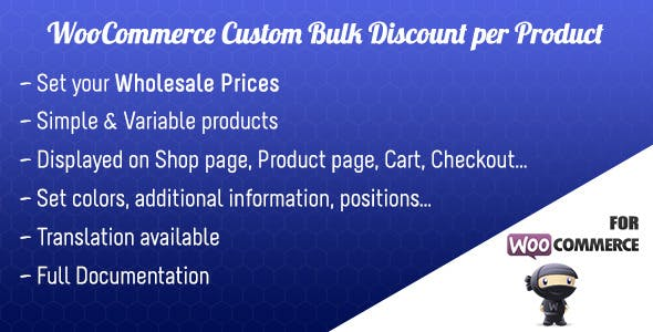 Woocommerce Custom Bulk Discount per Product