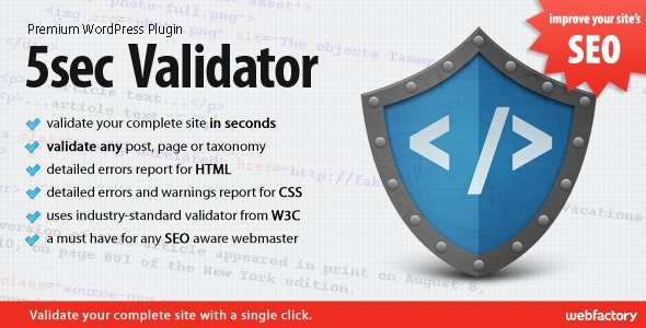 5sec Validator - CodeCanyon Item for Sale
