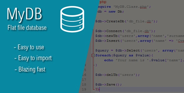 MyDB - Your Flat-File Database - CodeCanyon Item for Sale