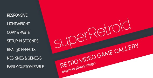 superRetroid - Retro Video Game Galleries - CodeCanyon Item for Sale