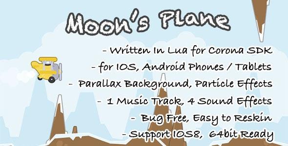 Moon's Plane: Game Template for Corona SDK - CodeCanyon Item for Sale