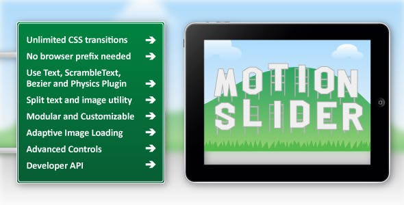Motion Slider jQuery Plugin
