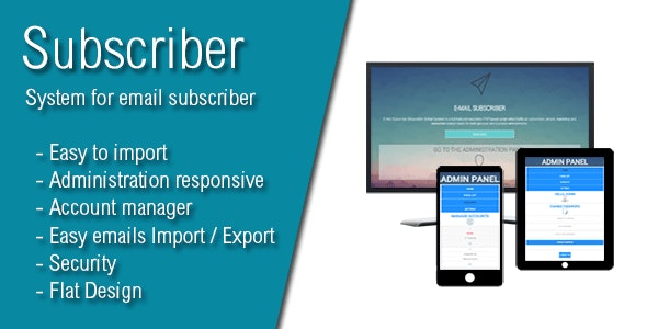 Subscriber - Most Advanced E-Mail Newsletter - CodeCanyon Item for Sale