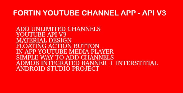 Fortin Video Channel App - Youtube Api V3