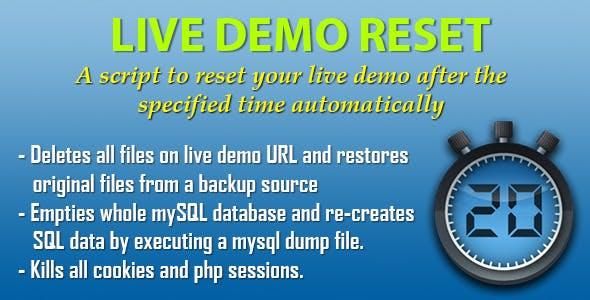 Live Demo Reset - script that resets a live demo