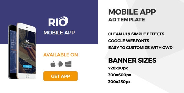 Mobile App - GWD Ad Banner - CodeCanyon Item for Sale