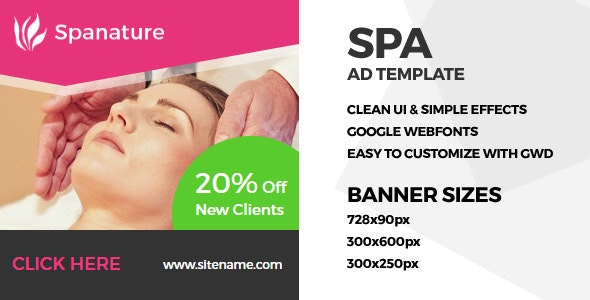 Spa - GWD Ad Banner - CodeCanyon Item for Sale