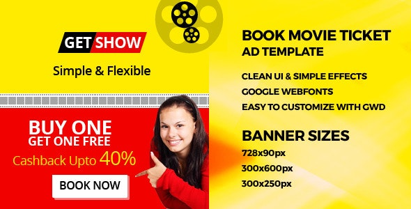 Online Movie Tickets - GWD Ad Banner - CodeCanyon Item for Sale