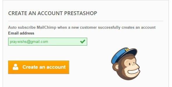 Auto Subscribe MailChimp - PrestaShop Module