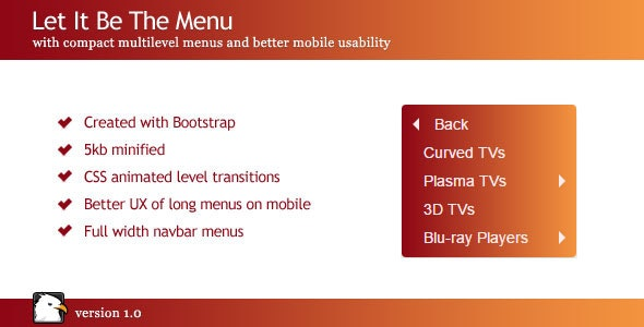 Let It Be The Menu - Compact Multilevel Menus - CodeCanyon Item for Sale