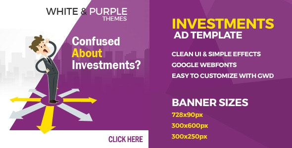 Investments - GWD Ad Banners - CodeCanyon Item for Sale