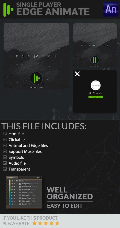 Single Player - Edge Animate - CodeCanyon Item for Sale
