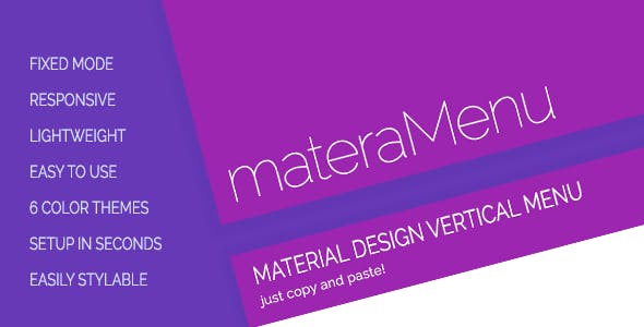 materaMenu - Responsive Material Vertical Menu