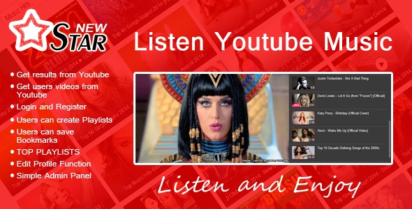 New STAR | Listen Youtube Music - CodeCanyon Item for Sale
