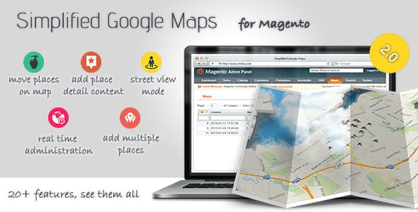 Simplified Google Maps for Magento
