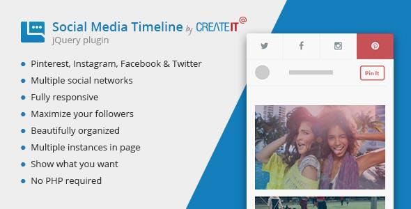jQuery Social Media Timeline