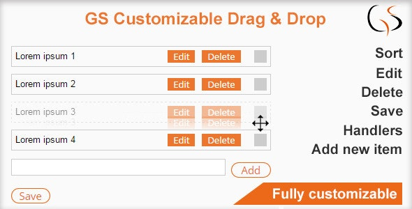 GS Customizable Drag and Drop - CodeCanyon Item for Sale