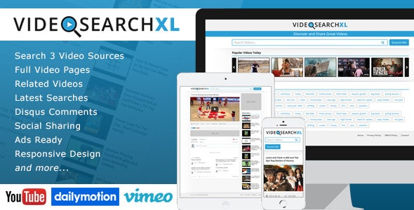 VideoSearchXL - Multi Source Video Search Engine - CodeCanyon Item for Sale