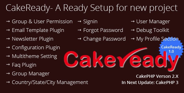 CakeReady : CakePHP Ready Admin With ACL Plugin  - CodeCanyon Item for Sale