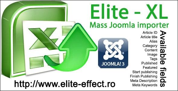 Elite-XL - Joomla 3x Mass Content Importer - CodeCanyon Item for Sale